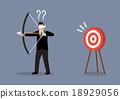 Blindfold businessman look for target 18929056
