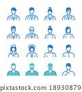 Medical staff icons set 18930879