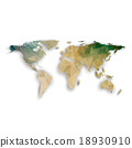 World map with shadow, textured design vector 18930910