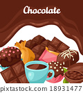 chocolate tasty vector 18931477
