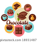 chocolate tasty vector 18931487
