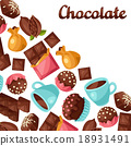chocolate tasty vector 18931491