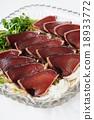 bonito, seared bonito slices, seared 18933772