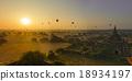 Sun rises in Bagan, Myanmar 18934197