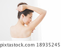 female, hair removal, dehairing 18935245