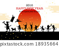 new year's card, vectors, vector 18935664