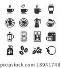 Coffee and coffee machine icons 18941748
