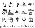 Stock Vector Illustration: Fishing icons 18942951