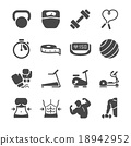 Fitness icons 18942952