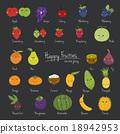 Fruit cartoon vectors. 18942953