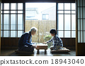 grandfather, japanese-style room, shogi 18943040