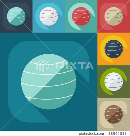 Flat modern design with shadow icon Ball for 18943851