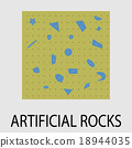 Artificial rocks climbing icon design 18944035