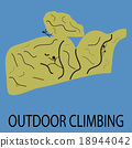 Outdoor climbing icon 18944042