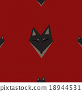 Brown Fox Red Background 18944531
