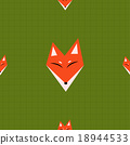 Red Fox Green Background 18944533