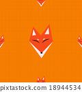 Red Fox Orange Background 18944534