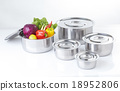 Set of stainless pots 18952806