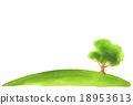 水彩插圖樹 18953613