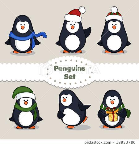Penguins. Set. 18953780