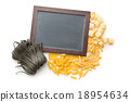 pasta, chalkboard, dry 18954634