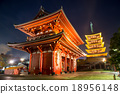 Sensoji Temple in nighttime Asakusa, Tokyo, 18956148