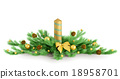 Christmas decoration isolated 3d rendering 18958701