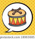 drum doodle, speech bubble 18963685