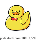 toy duck doodle 18963728