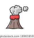 volcano doodle 18963858