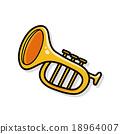 musical instrument trumpet doodle 18964007