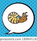 dinosaur doodle, speech bubble 18964518