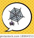 spider doodle, speech bubble 18964553