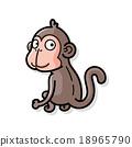 animal monkey doodle 18965790