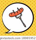 sausage doodle, speech bubble 18965952