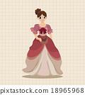 矢量 矢量图 公主 18965968