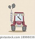 矢量 挖掘者 拖拉机 18966036