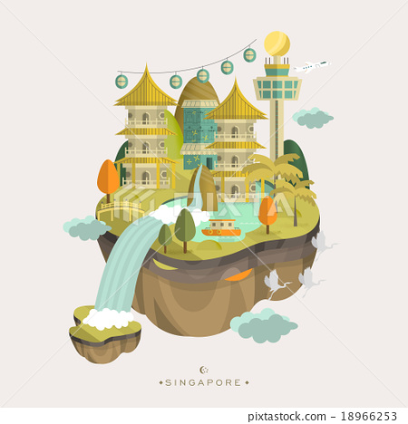 Stock Illustration: poster design, architecture, attractive