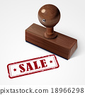 판매, 벡터, 스탬프 18966298