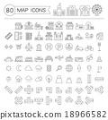 图标 地图 矢量 18966582