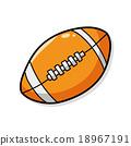 american football doodle 18967191