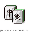 Chinese mahjong doodle 18967195