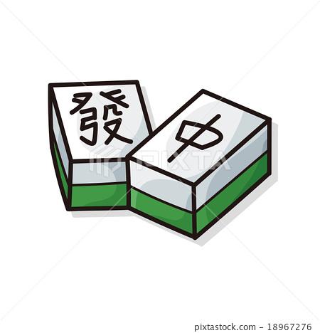 Chinese mahjong doodle 18967276