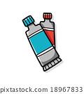 Pigment paint doodle 18967833