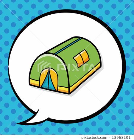 tent doodle, speech bubble 18968101
