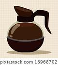 矢量 咖啡壶 咖啡 18968702