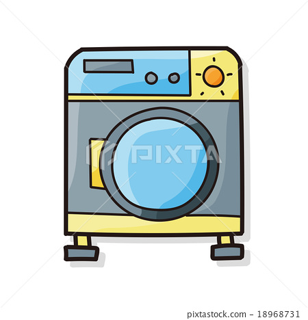 washing machine doodle 18968731