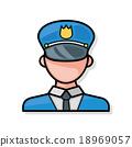 police officer doodle 18969057