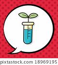 Test tube doodle, speech bubble 18969195