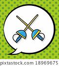 Fencing doodle, speech bubble 18969675